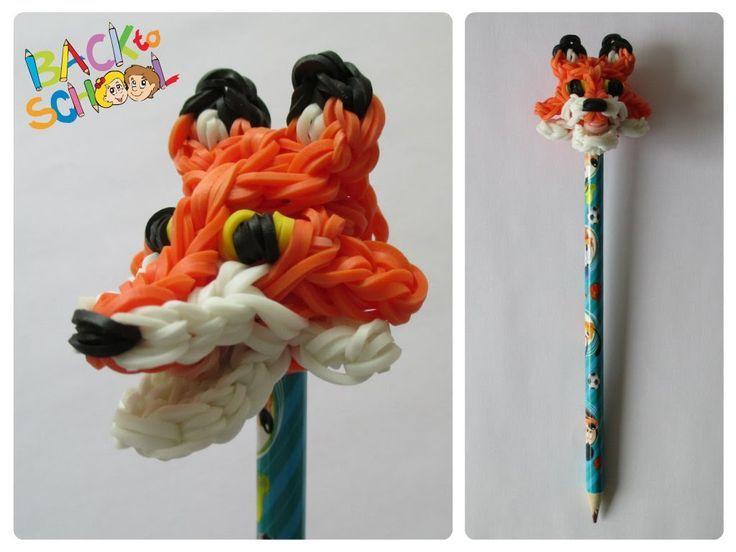 Tendance Bracelets  Rainbow Loom fox pencil topper Loombicious