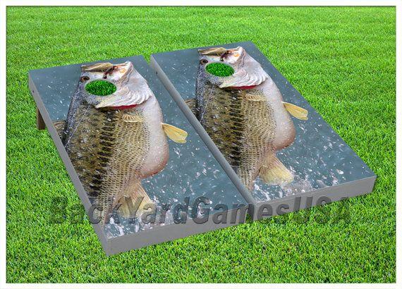 VINYL WRAPS Bass Fishing Sport Cornhole Boards DECALS Bag Toss