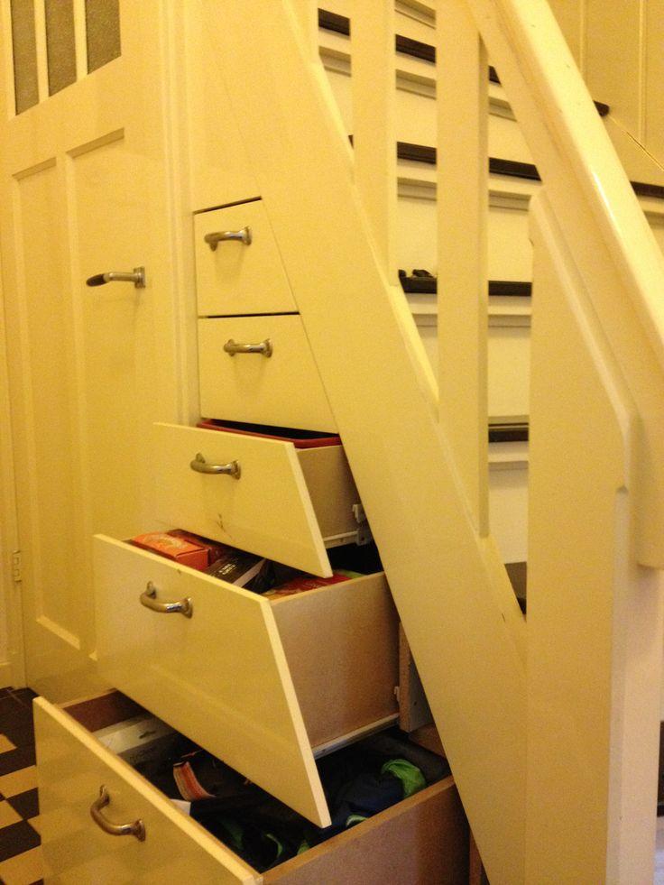 20 beste idee n over kast onder de trap op pinterest onder de trap pantry schappen onder - Versier een trap ...