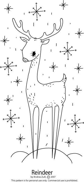 Free reindeer embroidery pattern!!