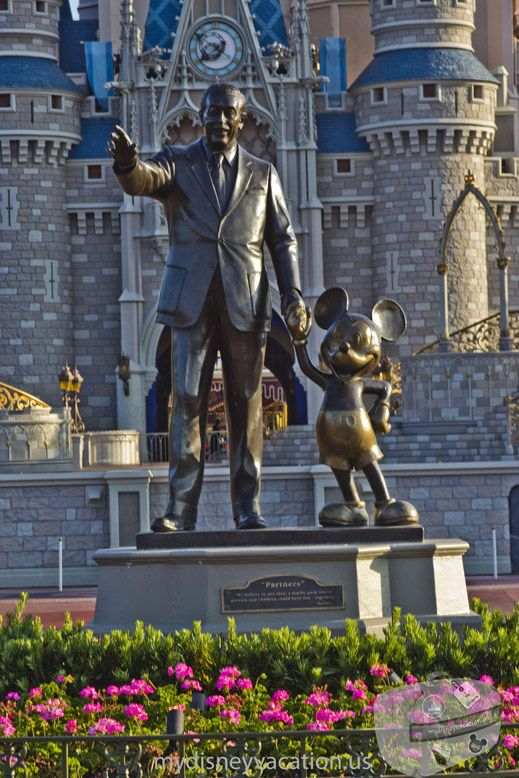 I love the Partners Statue in the Magic Kingdom. There is usually a really big line to take a picture of it.: Disney Stuff, Disney World Vacations, Disney World, Disney Vacations Tips, Disney Trips, Magic Kingdom, Travel, Favorite