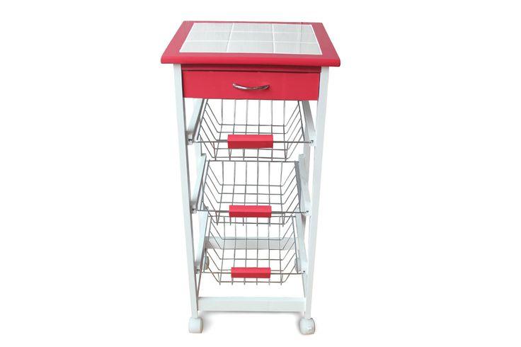 Venta potiron 14306 mobiliario muebles de for Carrito de cocina con ruedas