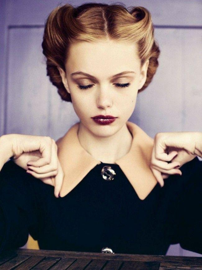 rockabilly-frisur mit vintage-feeling-passend zu eleganten damen