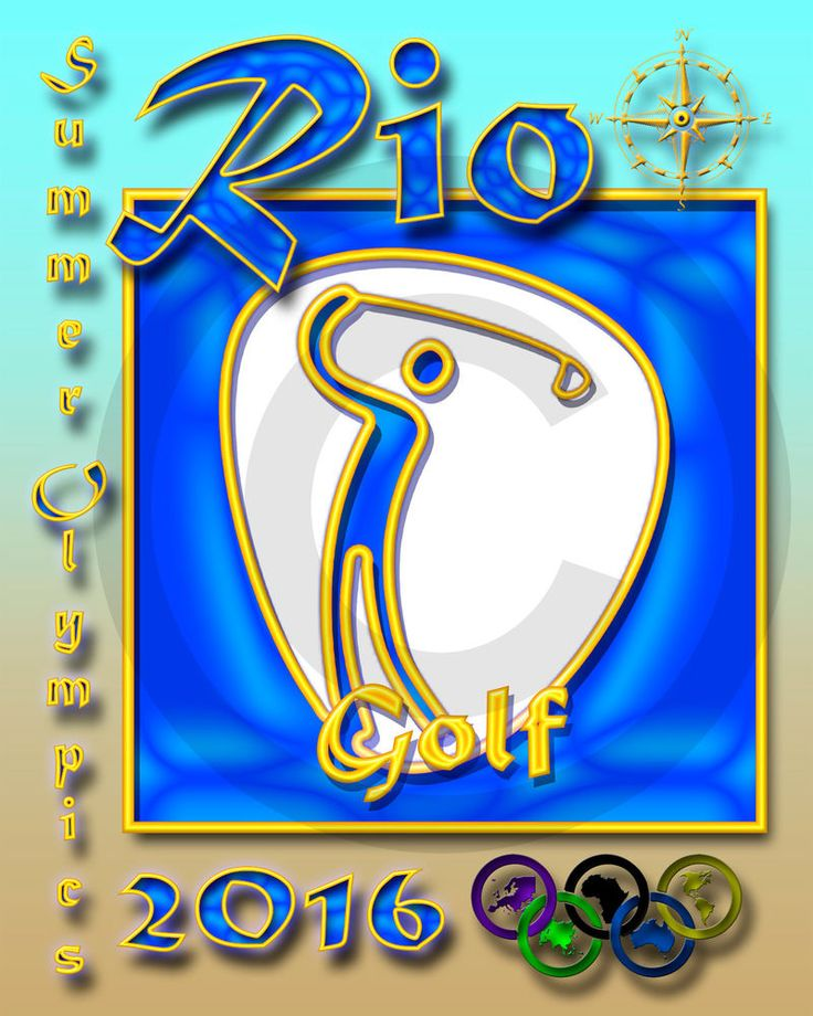 Summer Olympic Event Poster/GOLF PICTOGRAM/2016/Rio Olympics/16x20 inch
