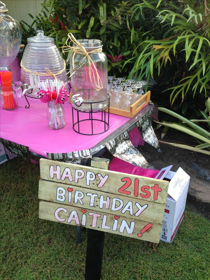 21st birthday sign