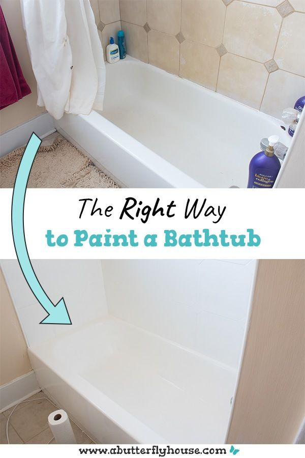 How To Refinish A Bathtub In 2020 With Images Bathtub