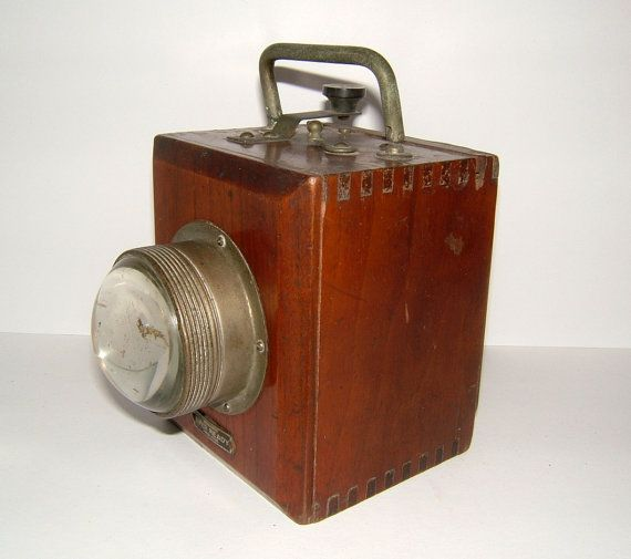 1920s British Ever Ready Bull Nosed Morse Code Hand Lamp