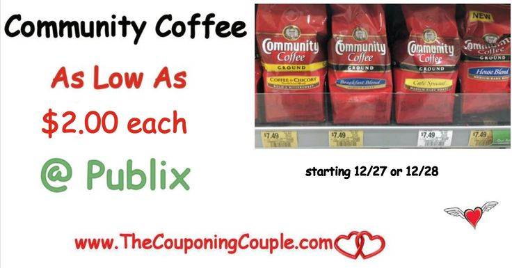 Community Coffee Stockup Price of Only $2.00 per Bag @ Publix Print coupons now for this great coffee deal!  Click the link below to get all of the details ► http://www.thecouponingcouple.com/community-coffee-stockup-price-of-only-1-75-per-bag-publix/ #Coupons #Couponing #CouponCommunity  Visit us at http://www.thecouponingcouple.com for more great posts!
