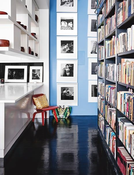 Hanya Yanagiharau0027s Huge Bookshelf Separates Public From Private Quarters In  Her Manhattan Apartment.