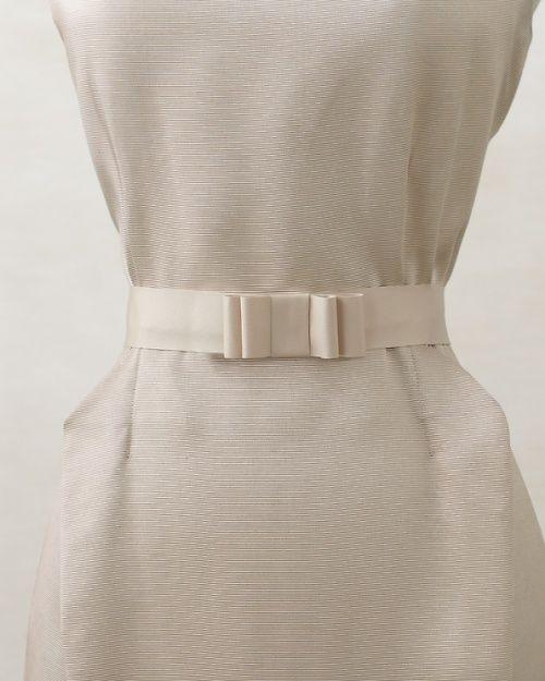 Ribbon Bow Belt - Martha Stewart Weddings Fashion & Beauty - create your own belt http://www.marthastewartweddings.com/314272/ribbon-bow-belt-how?czone=i=i=312332=229196=314272