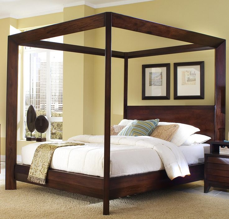 Eastern King Canopy Poster Bed by Ligna Furniture - Home Gallery Stores