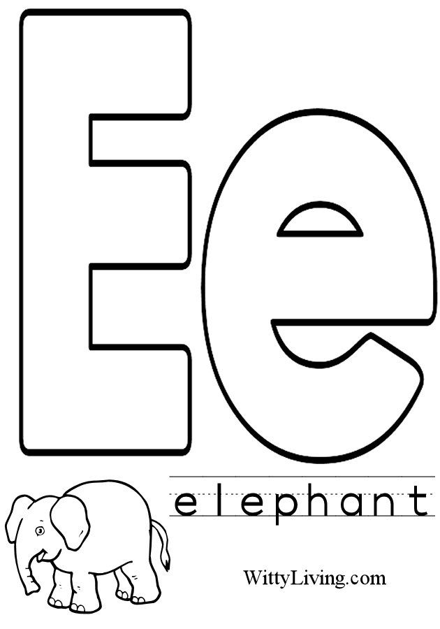e coloring pages for kids - photo #5