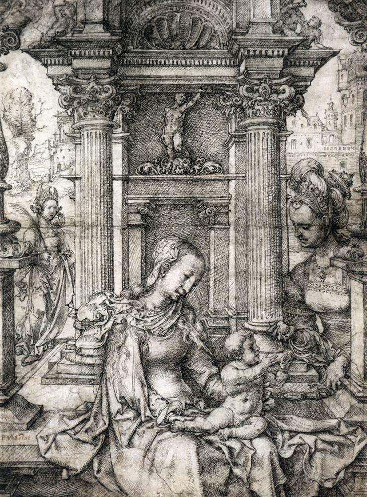 Παναγία βρεφοκρατούσα με τις Άγιες Αικατερίνη και Μπάρμπαρα (1510-15)