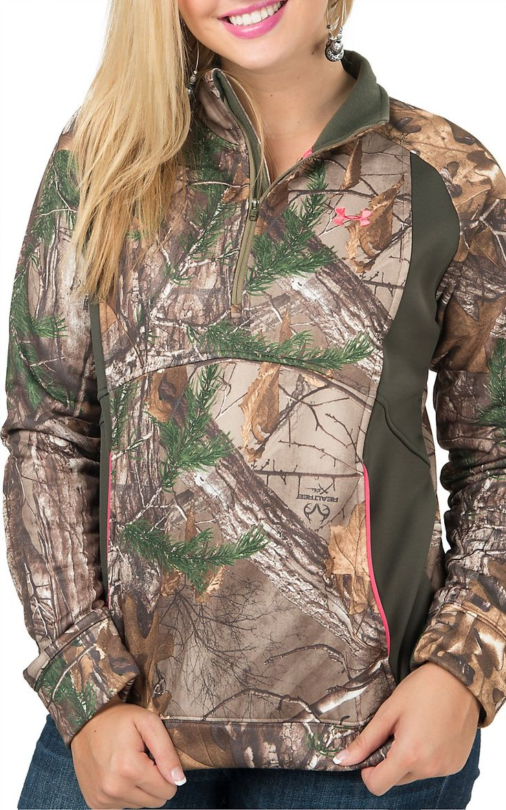 Under Armour Women's UA Realtree Camo Armour Fleece 1/4 Zip Jacket | Cavender's