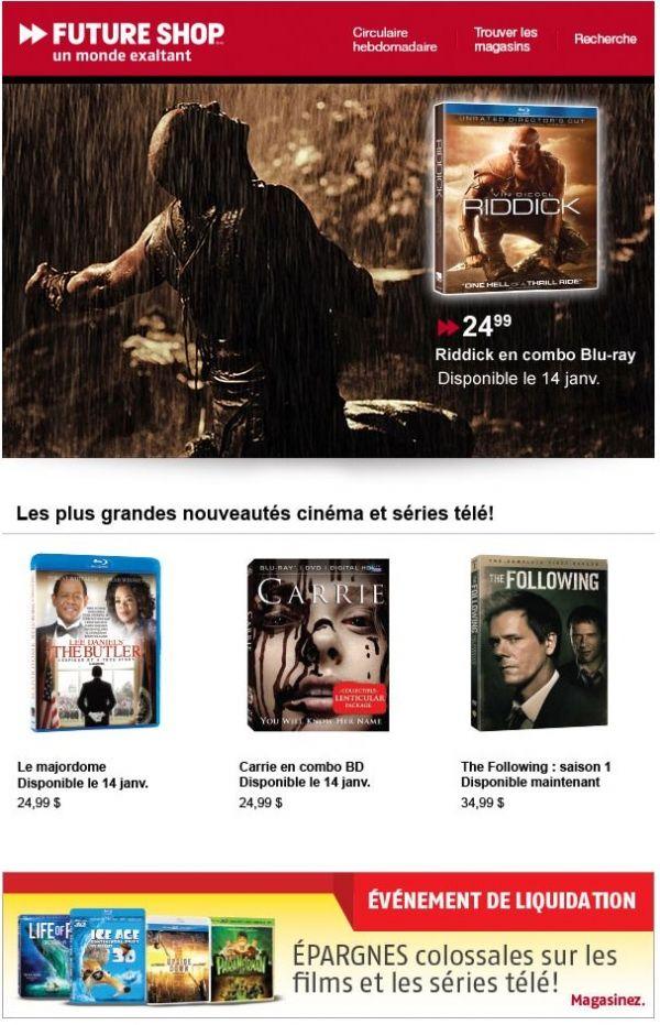 En grande primeur! Riddick en combo Blu-ray disponible le 14 janvier.