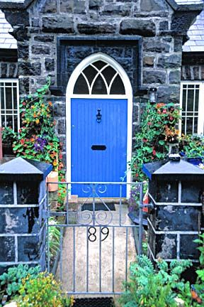 Blue Door Irish Cottage; I painted my front door this color - one of my favorites