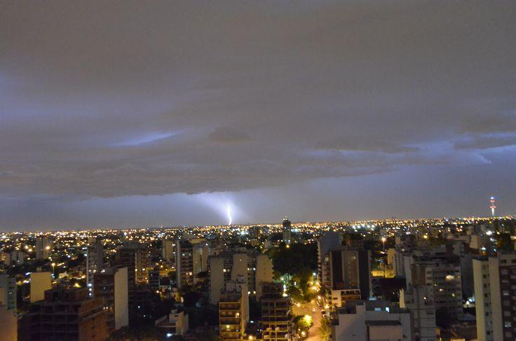 Tormenta eléctrica en Caballito, Bs. As. Argentina