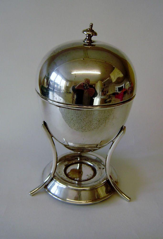 Vintage Egg Coddler Silver Plate Epns Sheffield 4 Division