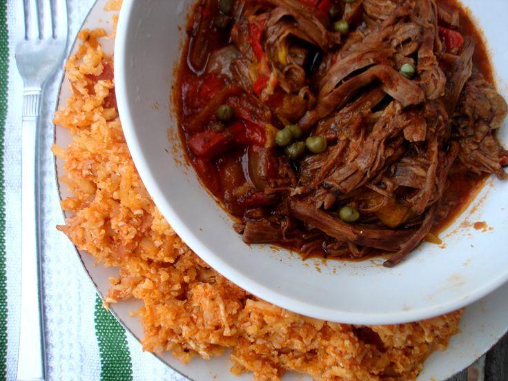 Crockpot Ropa Vieja with Cuban Style Rice | PaleOMG - Paleo Recipe