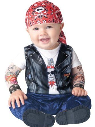Infant Boy Halloween Costume: Baby Biker Costume
