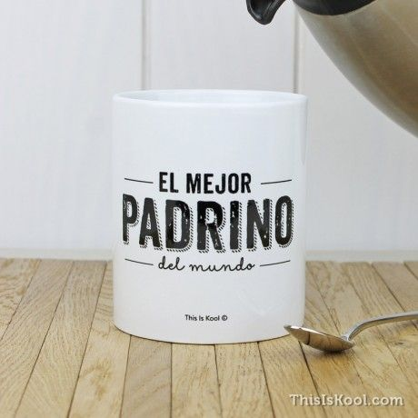 """Taza - """"EL MEJOR PADRINO DEL MUNDO"""". Taza para regalar al mejor Padrino que puedes tener. Regalo original para el Padrino de vuestra Boda."""