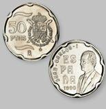 50 Pesetas de la Antigua Moneda Española - Money Made in Spain
