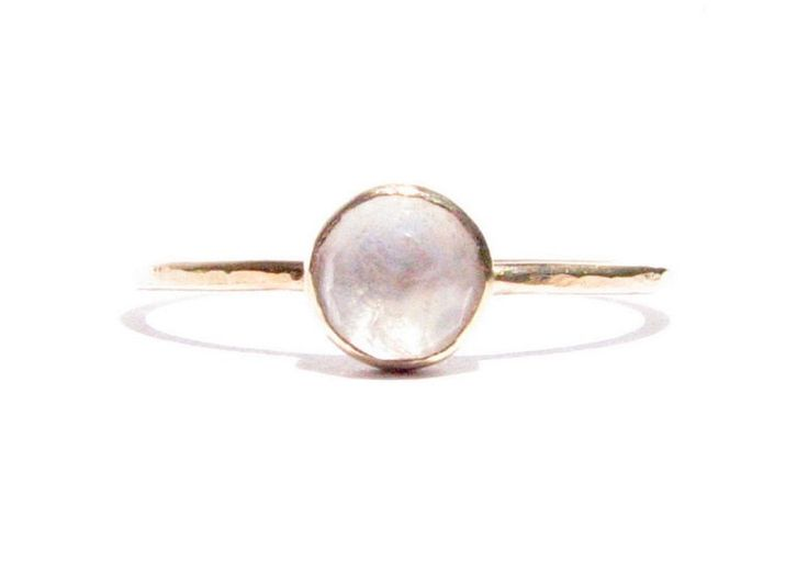 Moonstone &14k Solid Gold Ring - Rose Cut Ring - Stacking Ring - Thin Gold Ring - Gemstone Ring - Engagement Ring - MADE TO ORDER. by Ringsland on Etsy https://www.etsy.com/listing/154782996/moonstone-14k-solid-gold-ring-rose-cut