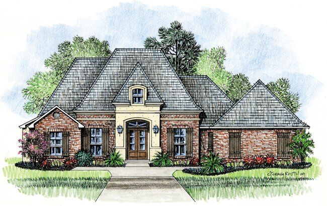 91 best images about brick and stone exterior on pinterest for Country french house plans louisiana