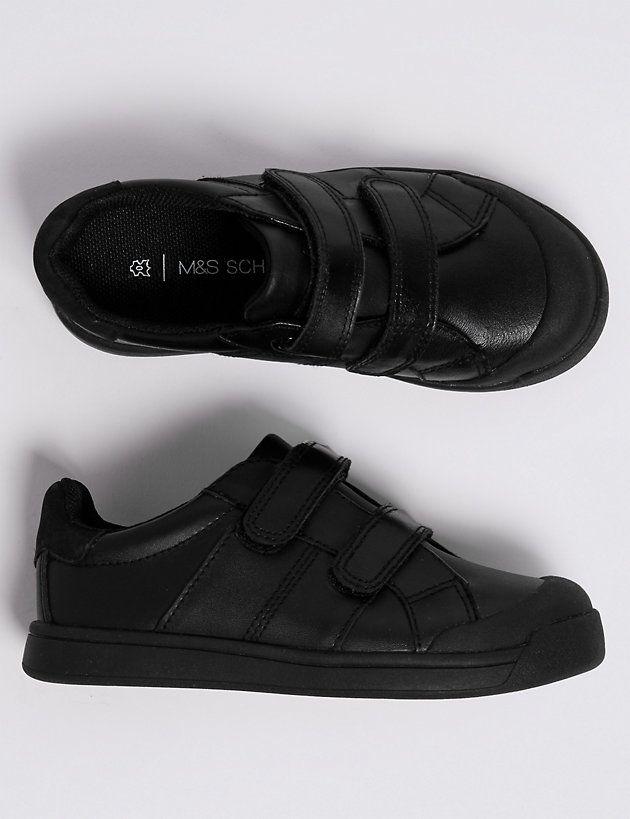 Kids' Leather Riptape School Shoes (8