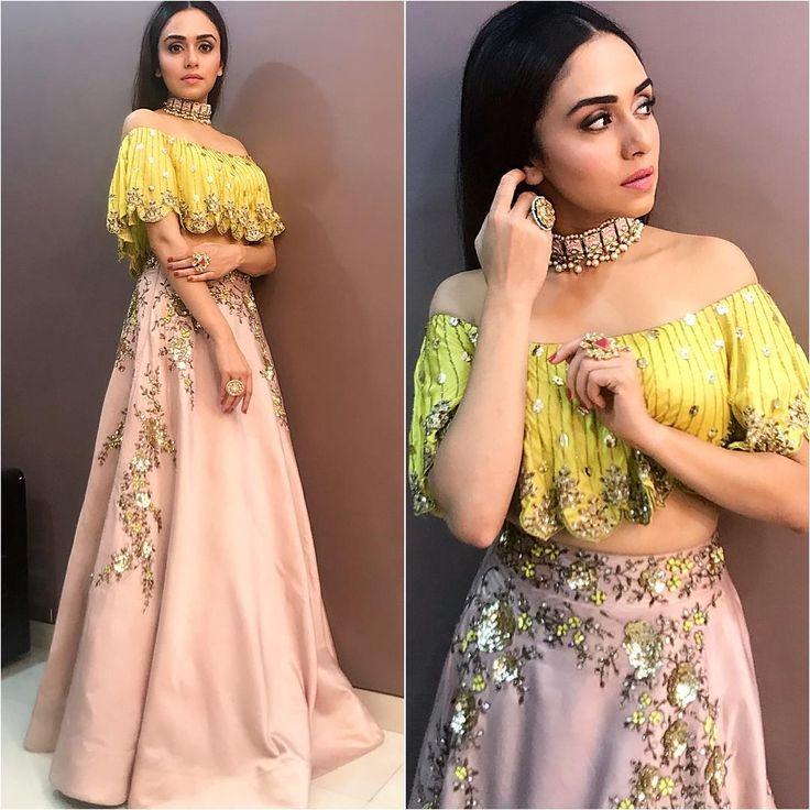 @amrutakhanvilkar Outfit - @izzumimehta Rings - @karishma.joolry @justjeweleryindia Choker - @aquamarine_jewellery Styled by - @shivanipatil_