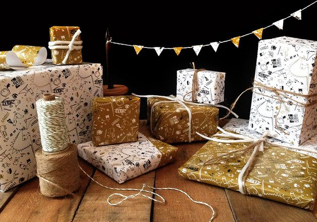Wrapping paper – Wrapping Paper for Gifts – a unique product by prinzapfel on DaWanda