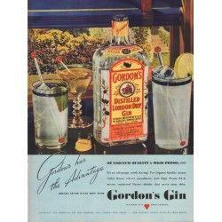 "1938 Gordon's Gin Ad ""Never Taste Thin"""
