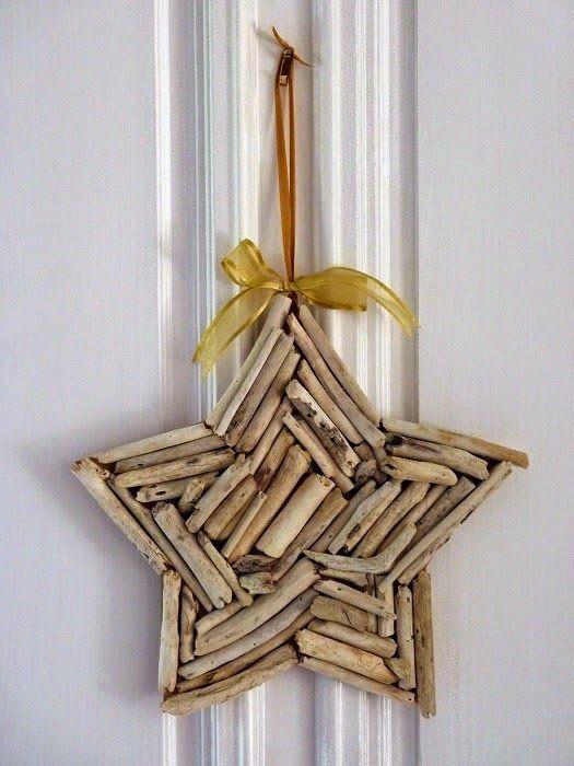 Estrellas de Navidad con Madera a la Deriva                                                                                                                                                                                 Más