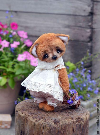 Лиза) - рыжий,лиса,лисенок,тедди-лиса,бохо,лето,цветочный стиль,вискоза