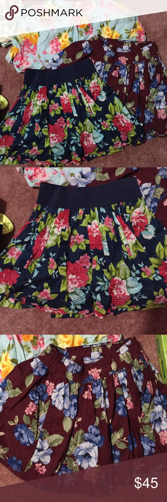 All new skirts All new Abercrombie and Fitch floral skirts in XS. $15 each Abercrombie & Fitch Dresses