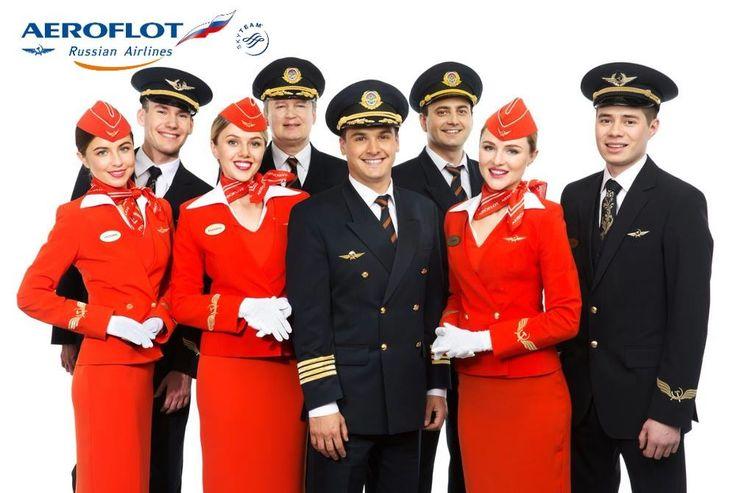 Pilotes et PNC d'Aeroflot, la compagnie nationale russe