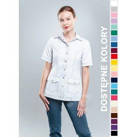 Odzież medyczna dla kobiet. | Bluza damska kolorowa 1703 - z pewnością będzie to strzał w 10-tkę dla pielęgniarek i lekarzy. | Sklep internetowy Dersa |