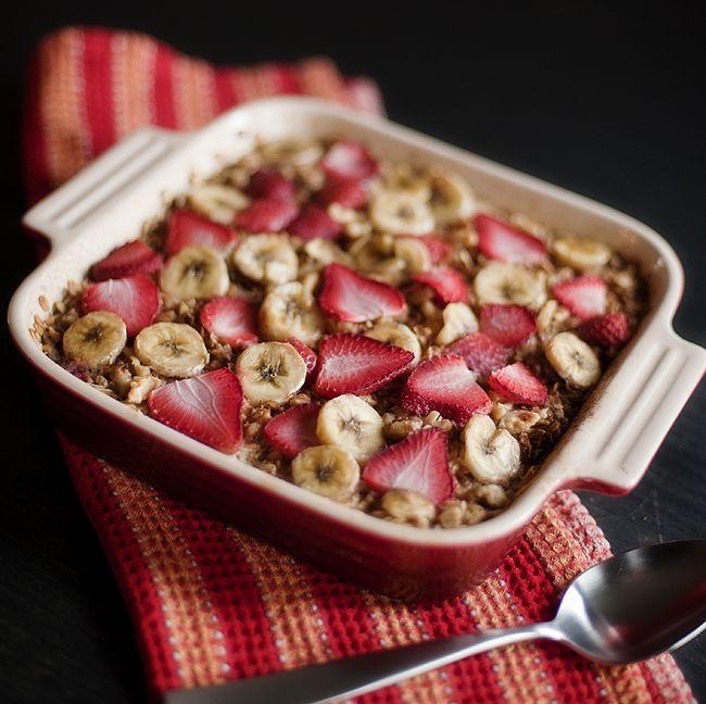 baked fruit oatmeal    www.prettyplainjanes.com