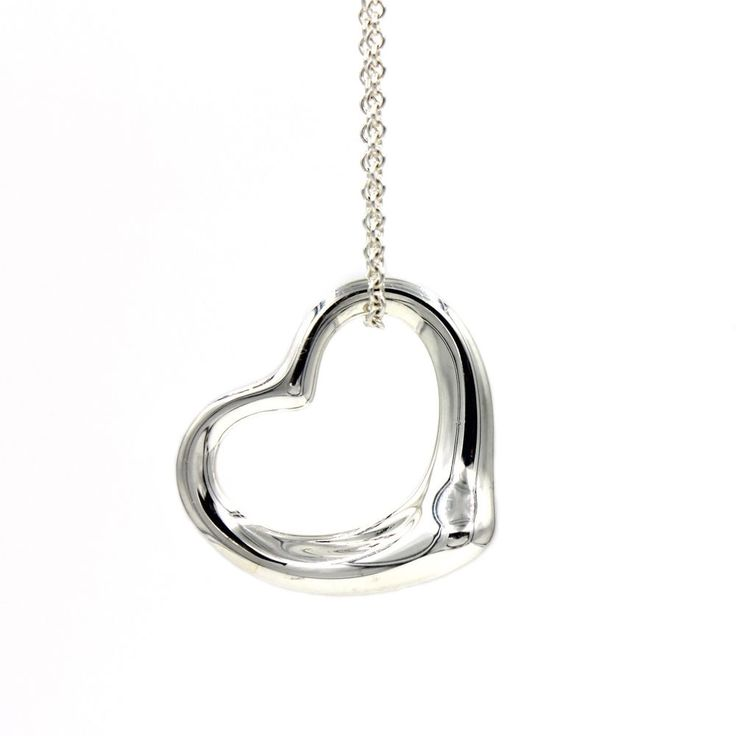 11 mejores imgenes de tiffany co elsa peretti jewelry en tiffany co elsa peretti open heart pendant in sterling silver on 18 chain aloadofball Images