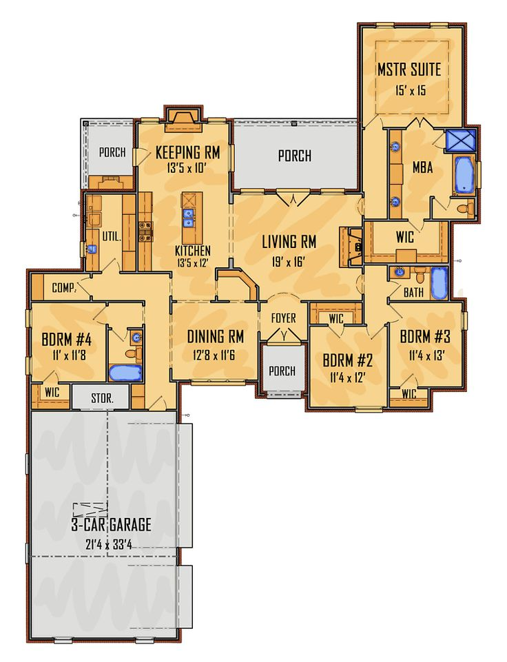 Best 25 traditional house ideas on pinterest dream home for Traditional southern house plans