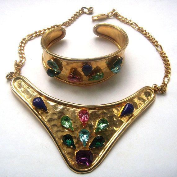 Elegant necklace bracelet. Coco style от ODMIVINTAGE на Etsy