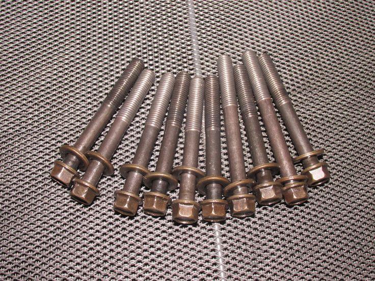 93 94 95 Honda Del Sol OEM B16 Engine Crankshaft Bearing Cap Bolt Set