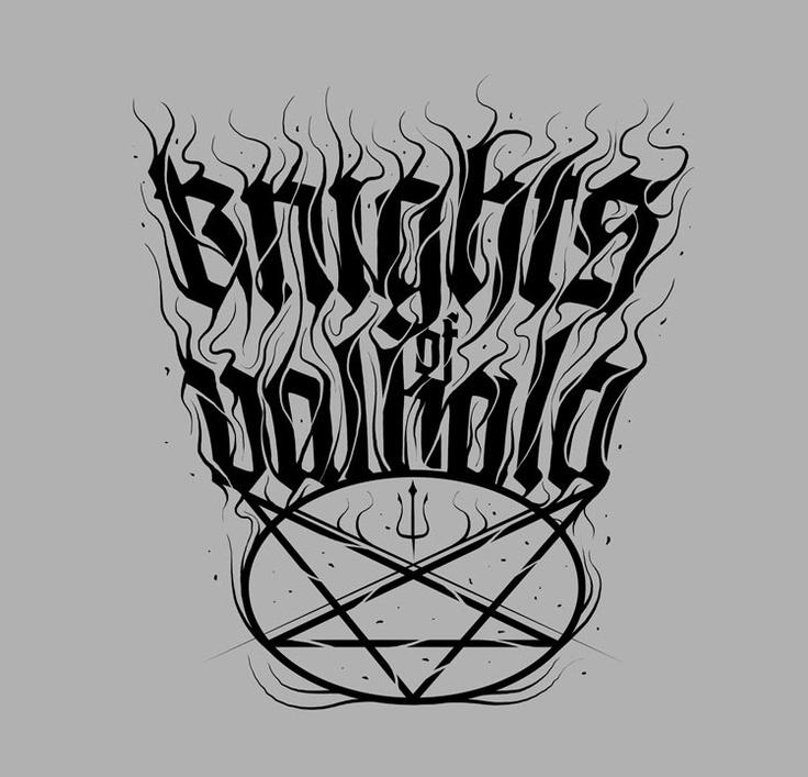 Knights Of Valhala #KnightsOfValhala #blackandwhite #logo #bandlogo #music #rock