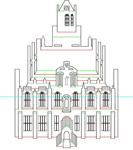 pop up house template pdf