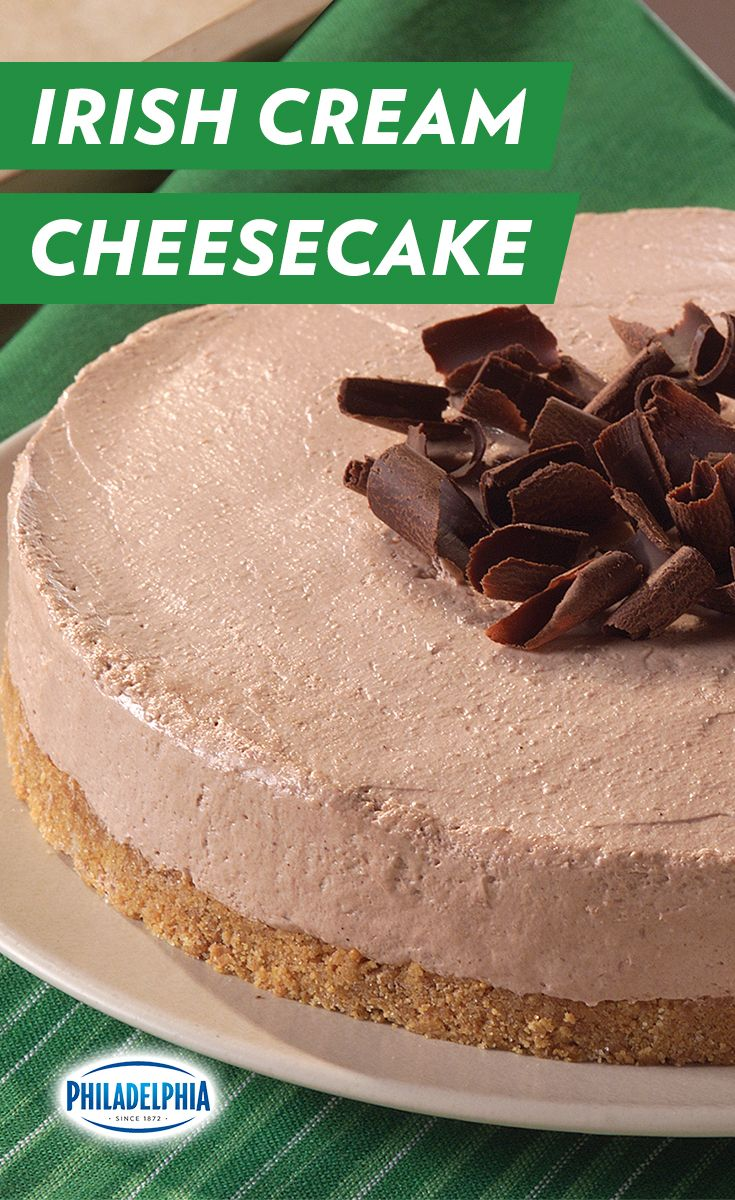 Forget four-leaf clovers, this St. Patty's Day no-bake, chocolate, cheesecake is what everyone will be looking for.  Top with chocolate curls to make it an eye-catching dessert for your next holiday party or any occasion.