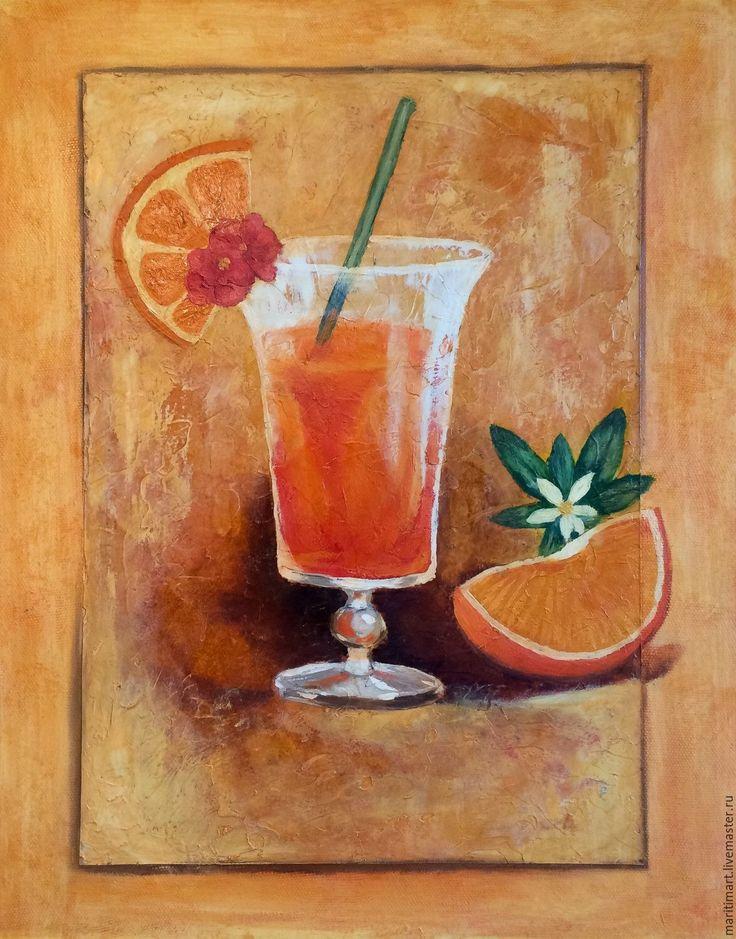 Купить Дайкири - яркая картина, оригинальный подарок, яркие цвета, картина для…