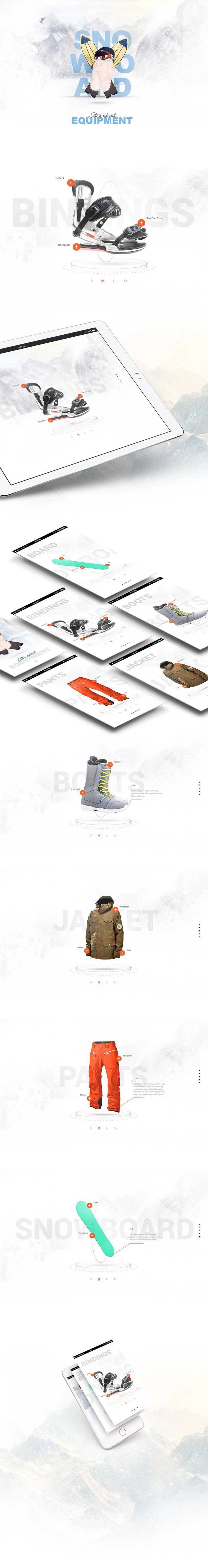 I am very passionate about snowboarding so I did web page about snowboarding equipment without mentioning any specific manufacturers. Images are for illustrative purposes only.