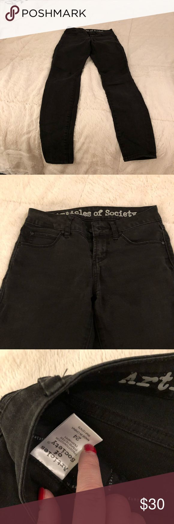 Articles of Society Faded Black Jeans Articles of Society Faded Black Jeans  BUNDLE w/ 1 FREE JEWELRY ITEM Articles Of Society Jeans Skinny