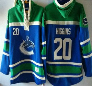 Vancouver Canucks #20 Chris Higgins Blue Hoody