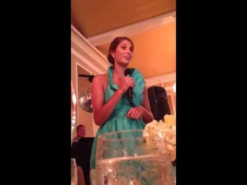 The best maid of honor speech! She's HILARIOUS. If only I had a sister to give this speech! But I do love my brother!